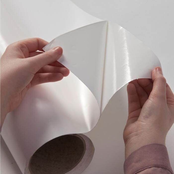 Close up of adhesive layer included in Smart Self Adhesive Whiteboard Film
