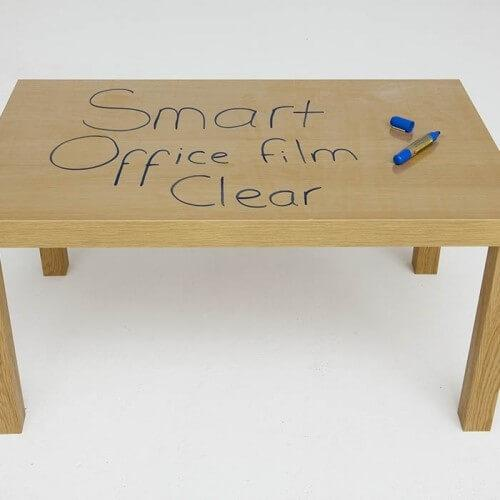 self adhesive whiteboard film table