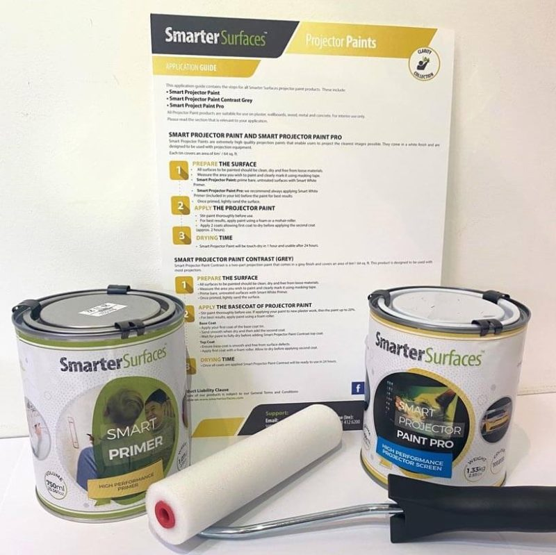 smart projector paint pro kit contents and application guide