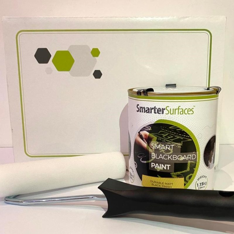 Smart Chalkboard Paint Kit contents